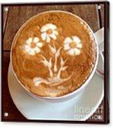 Flower Bouquet Latte Art Acrylic Print