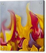 Flower Flames Acrylic Print