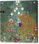 Flower Garden Acrylic Print by Gustav Klimt