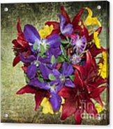 Flower - Garden Joy - Luther Fine Art Acrylic Print