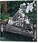 Flower Garden Seat Acrylic Print