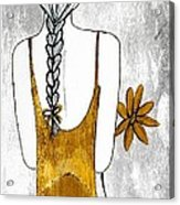 Flower Girl 2 Acrylic Print by Anne Costello