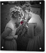 Flower Girls Acrylic Print