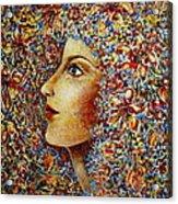 Flower Goddess. Acrylic Print
