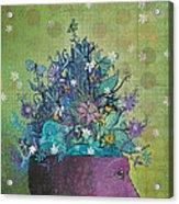 Flower-head1 Acrylic Print by Dennis Wunsch