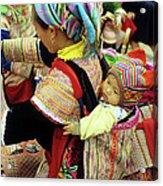 Flower Hmong Baby 03 Acrylic Print