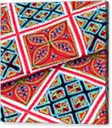Flower Hmong Embroidery 02 Acrylic Print