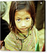 Flower Hmong Girl 02 Acrylic Print