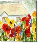 Flower House Acrylic Print