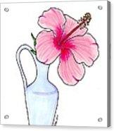 Flower In Jug Acrylic Print