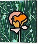 Flower Acrylic Print by Kenneth North