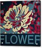 Flower Poster Acrylic Print