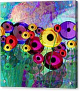 Flower Power Abstract Art  Acrylic Print
