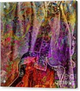 Flower Power Digital Guitar Art By Steven Langston Acrylic Print