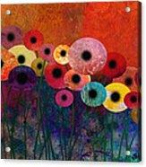 Flower Power Five Abstract Art Acrylic Print