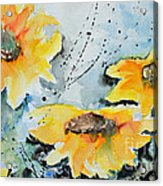 Flower Power- Floral Painting Acrylic Print