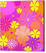 Flower Power Pastels Design Acrylic Print