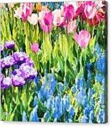 Flower Splash I Acrylic Print