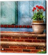 Flower - Tulip - A Pot Of Tulips Acrylic Print