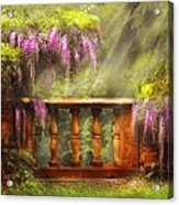 Flower - Wisteria - A Lovers View Acrylic Print by Mike Savad