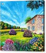 Flowered Garden Acrylic Print