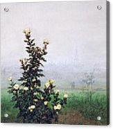 Flowering Chrysanthemum With Worker Acrylic Print by Leon Bonvin