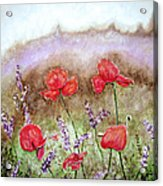 Flowering Field Acrylic Print