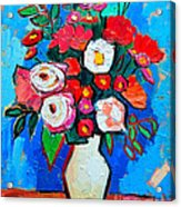 Flowers And Colors Acrylic Print by Ana Maria Edulescu