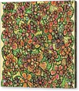 Flowers And Foliage  Acrylic Print