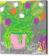 Flowers And Fruit Acrylic Print by Joe Dillon