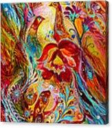 Flowers And Fruits Acrylic Print by Elena Kotliarker