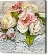 Flowers And Lace Acrylic Print