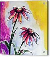 Flowers And Ladybug  Acrylic Print