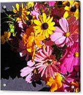 Flowers And Shadow Acrylic Print