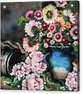 Flowers And Vase Acrylic Print