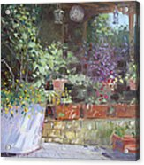 Flowers At Lida's Veranda Acrylic Print