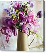 Flowers At The Post Office Acrylic Print