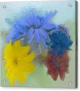 Flowers Behind Glass Acrylic Print