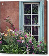 Flowers By The Window Acrylic Print