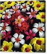 Flowers Floating Acrylic Print