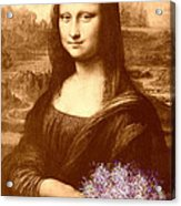 Flowers For Mona Lisa Acrylic Print