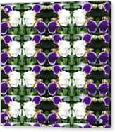 Flowers From Cherryhill Nj America White  Purple Combination Graphically Enhanced Innovative Pattern Acrylic Print