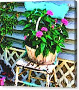 Flowers In A Basket Acrylic Print