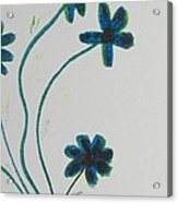 Flowers In A Jade Vase Acrylic Print