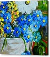 Flowers In A White Vase Acrylic Print