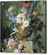 Flowers In An Alabaster Vase Acrylic Print