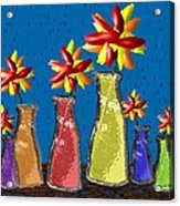 Flowers In Glass Vases Acrylic Print