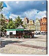 Flowers In Salt Square - Wroclaw Poland Acrylic Print