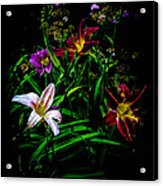 Flowers In The Garden Acrylic Print