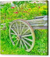 Flowers In A Wagon Acrylic Print